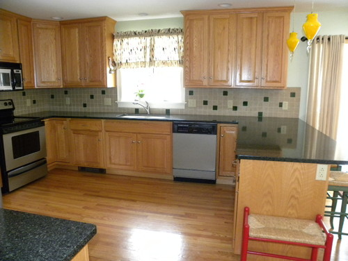 kitchen cabinet color ideas. light floors and light cabinets