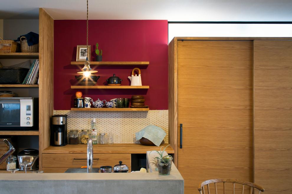 東京23区のコンテンポラリースタイルのおしゃれなキッチンの写真