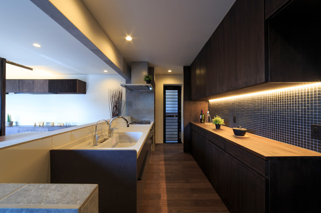 富の原の家 和室和風-キッチン