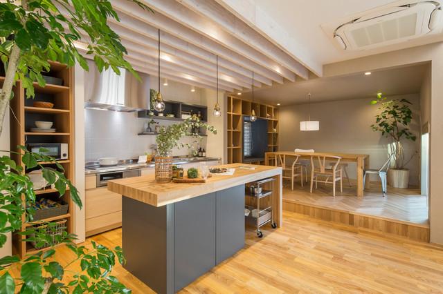 岡崎店モデルハウス contemporary-kitchen
