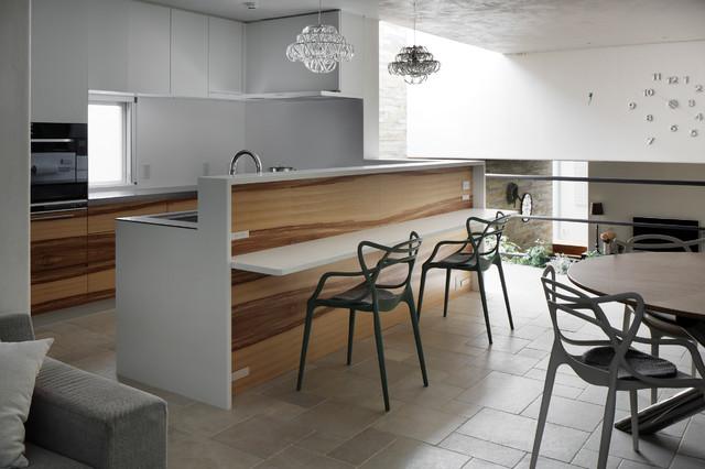 kenji masunaga 14 minimalistisch k che tokio. Black Bedroom Furniture Sets. Home Design Ideas