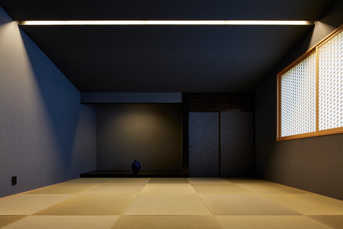 サンゲツ 日本の採(紺)和室の壁紙・クロス