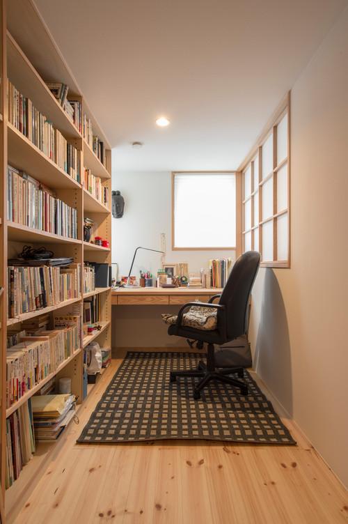 書斎の壁紙 薄いグレー