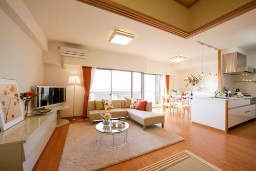 明るい雰囲気のリビング マンションの施工事例