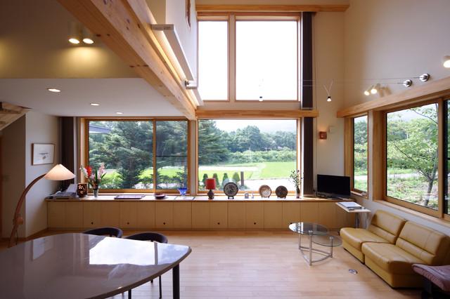 御代田の家 リビング コンテンポラリー-リビング居間
