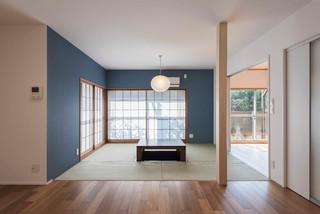 成城の家リノベーション 和室和風-リビング