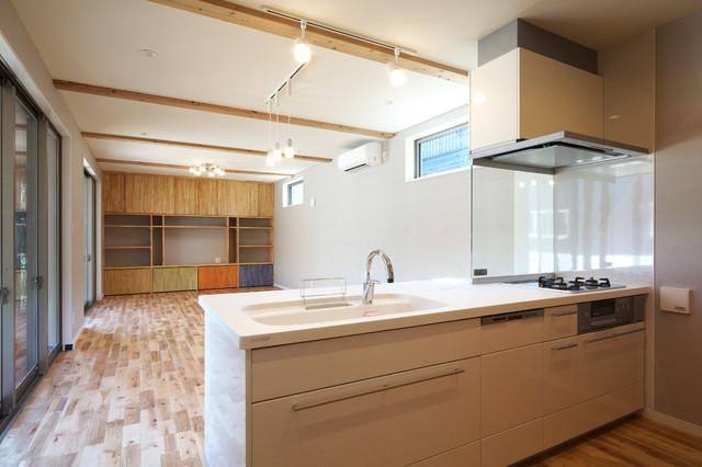新築)キッチン→リビング・ダイニング - Contemporáneo - Salón - Otras ...