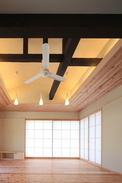 西島町のリノベ 和室和風-リビング居間