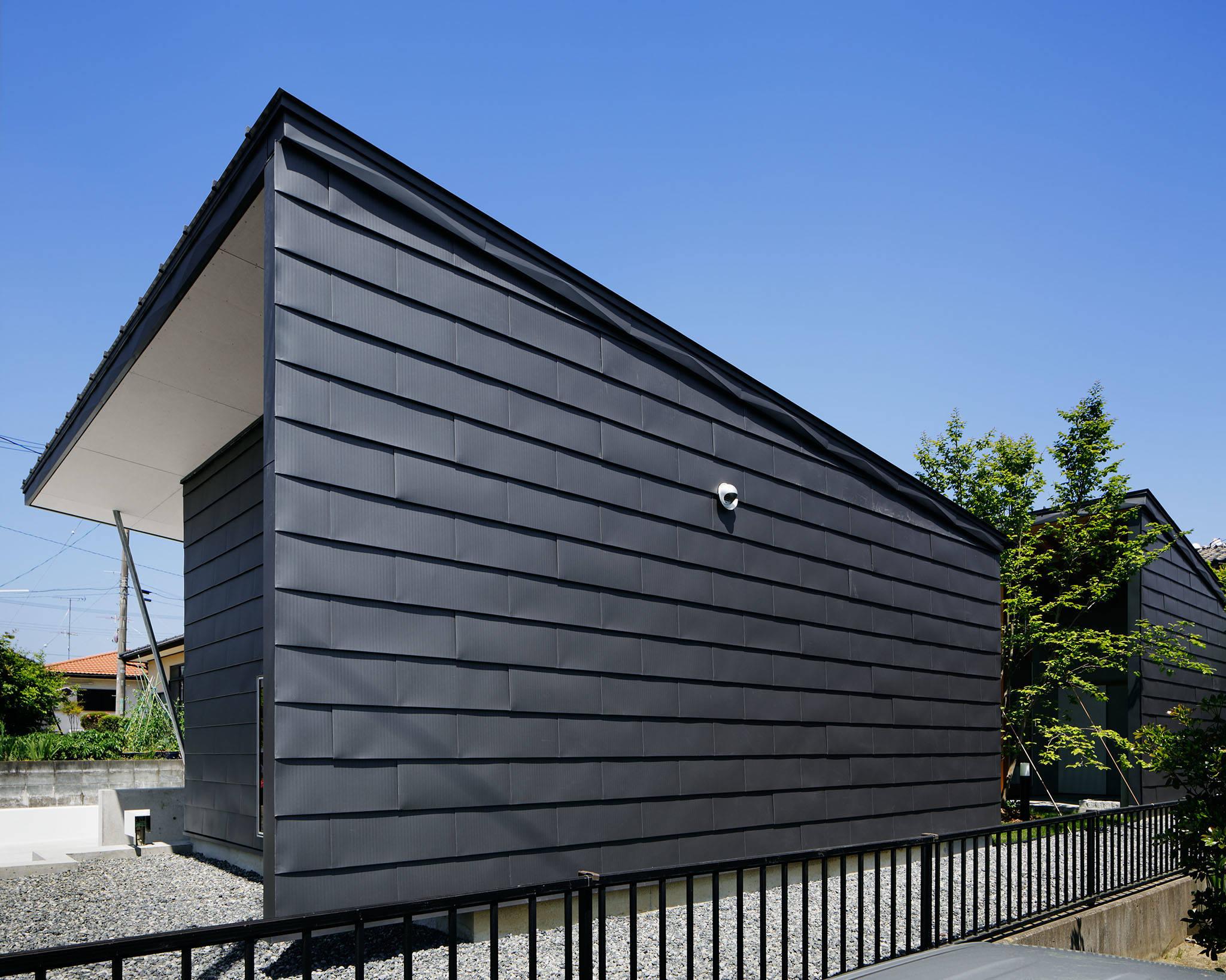 コの字の家/東側外観