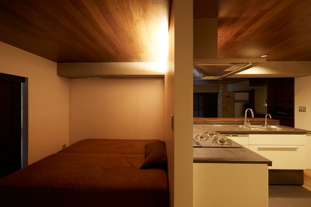 東京23区のモダンスタイルの寝室の画像