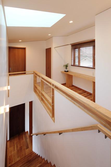 佐久の家 2階廊下・階段 ラスティック-廊下