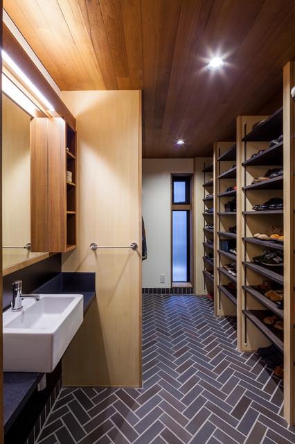 京町堀の家 コンテンポラリー-浴室