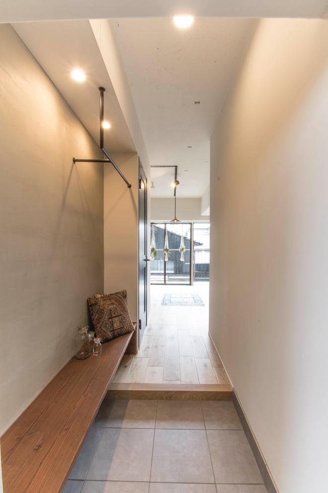 玄关黄色地板砖北欧风格装饰效果图