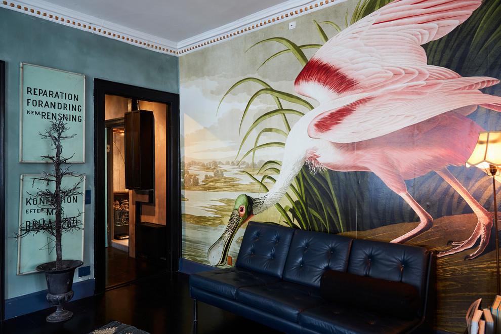 Family room - eclectic family room idea in Copenhagen