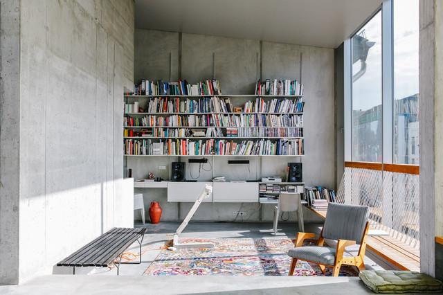 loft mit beton und klinker einrichtung, starke wände: ein Überblick über beton, ziegel, naturstein & co., Design ideen