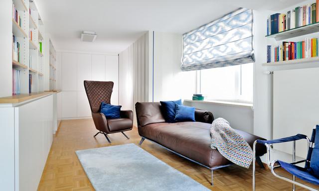 Braune Ledercouch Und Sessel Midcentury Home Office