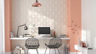 farbtrend copper orange modern arbeitszimmer. Black Bedroom Furniture Sets. Home Design Ideas