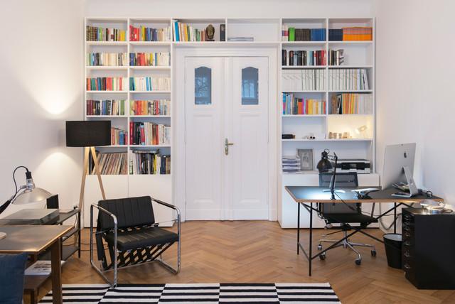 GANTZ - Bücherregal nach Maß um Tür - Modern - Arbeitszimmer ...