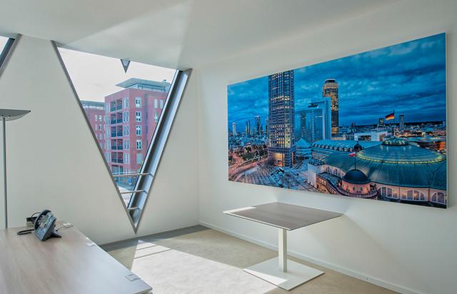grossformatige akustikbilder in b ror umen modern arbeitszimmer frankfurt am main von. Black Bedroom Furniture Sets. Home Design Ideas