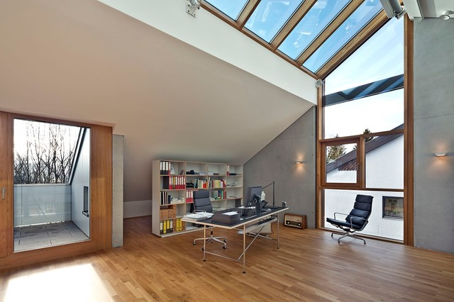 Haus kressbach modern arbeitszimmer other metro for Large skylights