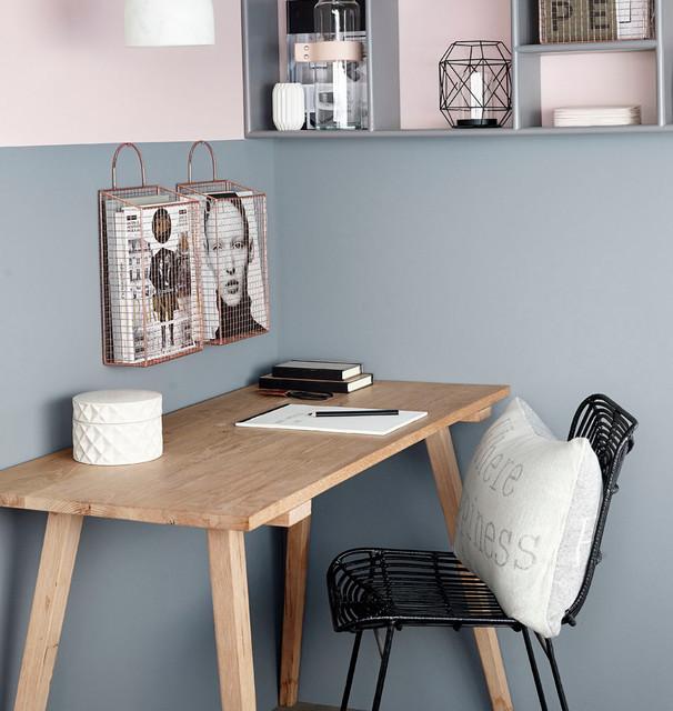 h bsch interior schreibtisch hanne eiche skandinavisch arbeitszimmer m nchen von milanari. Black Bedroom Furniture Sets. Home Design Ideas