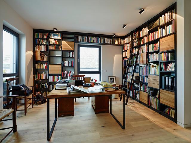 Regale Frankfurt penthouse bibliothek regal contemporary home office frankfurt
