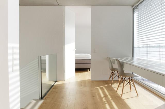 Fußner Kühne split level wohnen an der lechleite modern home office munich