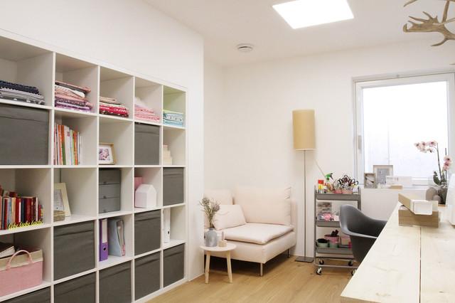 Fußner Kühne split level wohnen an der lechleite modern arbeitszimmer
