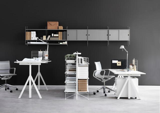 Imagen de despacho actual con paredes grises