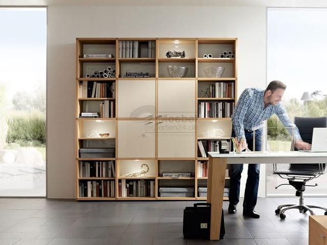 Moebelexperten24 De venjakob kombination für das arbeitszimmer modern