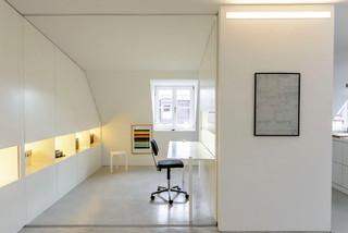 wohnung 1 m nchen minimalistisch arbeitszimmer. Black Bedroom Furniture Sets. Home Design Ideas