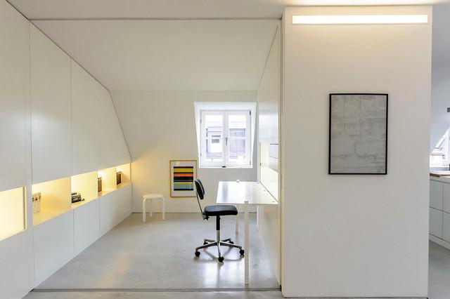 Wohnung 1 m nchen minimalistisch arbeitszimmer for Wohnung minimalistisch