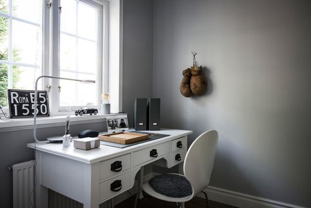 Bild på ett minimalistiskt arbetsrum