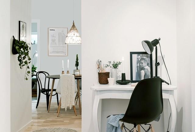 Homestyling skandinavisk-arbetsrum