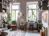 eclectic home office - My Houzz: A Home Built Around Art and Family (15 photos)