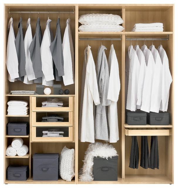 Muebles vestidores modernos odea moderno armario madrid de muebles gautier madrid - Armarios abiertos ...