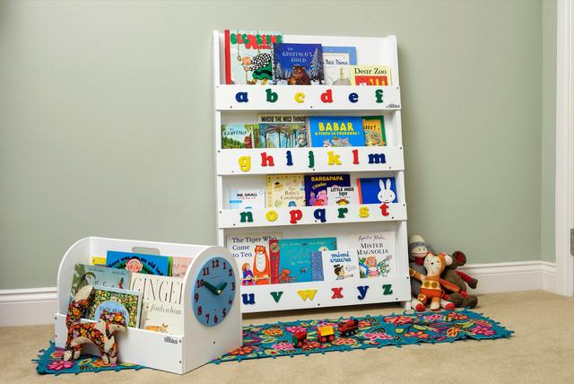 Kinder-Bücherregal Weiß mit Alphabet - Modern - Babyzimmer - London ...