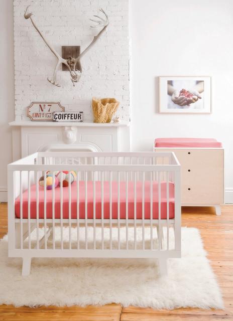 Babyzimmer weiß modern  Oeuf Sparrow Babybett weiss