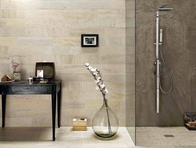Inspiration   moderne   badeværelse   other metro   af flise bent