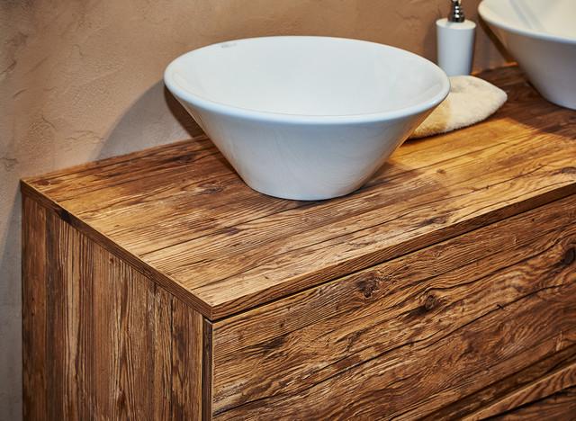 Altholzbad Modern Badezimmer