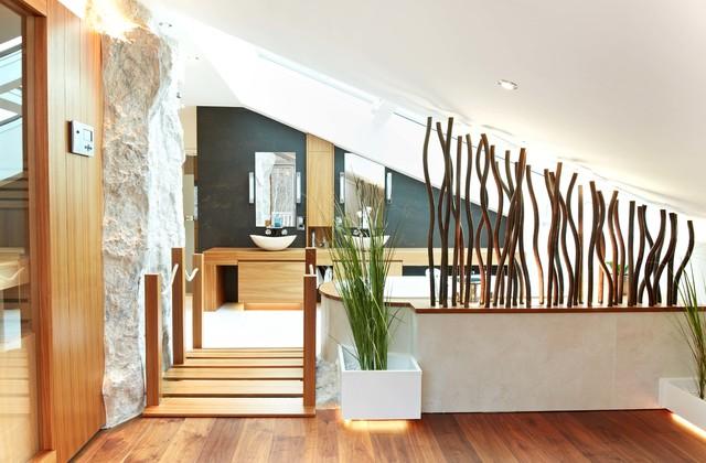 angrenzender wellnessbereich. Black Bedroom Furniture Sets. Home Design Ideas