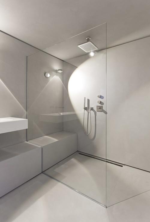 occhio leuchten direkt in der dusche. Black Bedroom Furniture Sets. Home Design Ideas