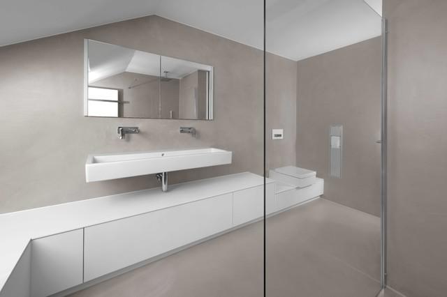 B01 | Fugenloses Bad Minimalistisch Badezimmer