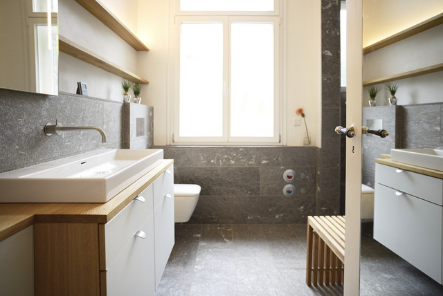 badezimmer altbau, bad im altbau - minimalistisch - badezimmer - stuttgart - von echt, Badezimmer