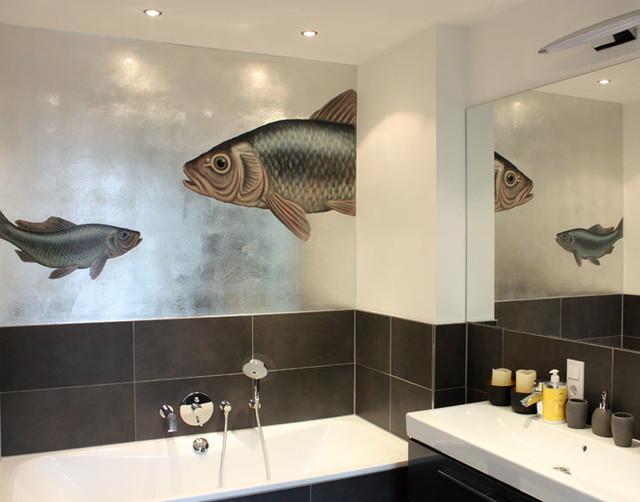 bad im silber mit karpfen klassisch modern badezimmer berlin von atelier wandlungen. Black Bedroom Furniture Sets. Home Design Ideas