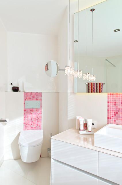 Bad in Pink mit Mosaik - Modern - Badezimmer - Nürnberg ...