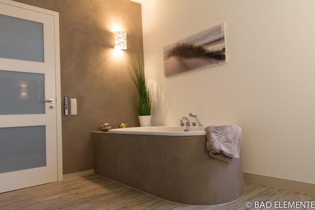 bad mit anfertigungen aus quarzstein und mineralischen wandputzen, Badezimmer ideen