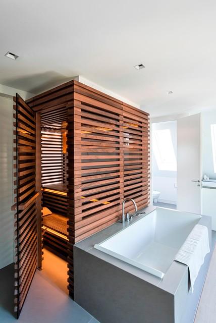 Sauna Fürs Badezimmer, bad mit sauna - modern - badezimmer - hamburg - von cornehl, Design ideen