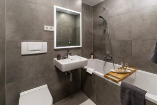 Badezimmer mit Badewanne in Nische Ideen, Design & Bilder ...