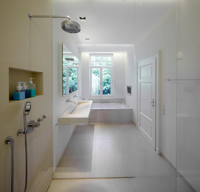 Skandinavische Badezimmer Mit Waschtisch: Design-ideen & Beispiele ... Skandinavische Badezimmer